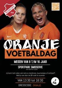 Oranje voetbaldag meiden